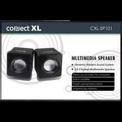 Zvučnik, set,  2.0, USB 5V, boja crna