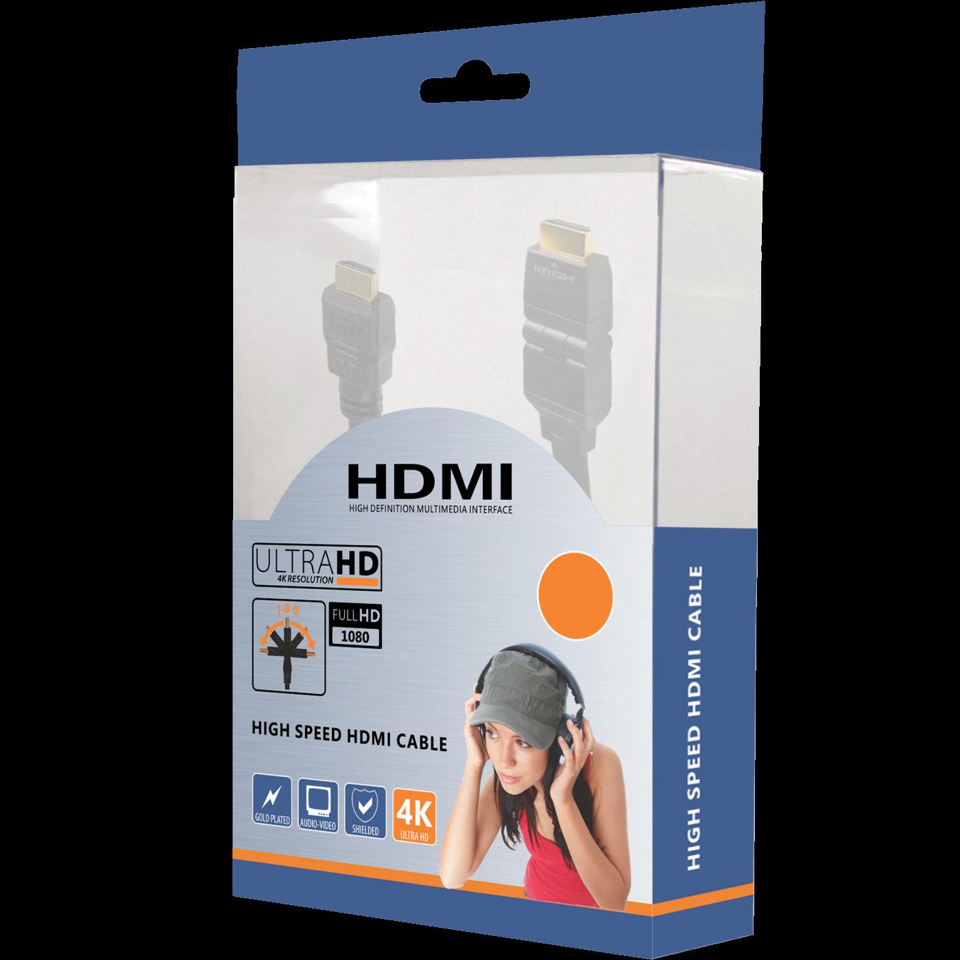 HDMI kabl, 5.0 met, ver. 1.4, 4K, 3D, HEC, HDCP, ARC