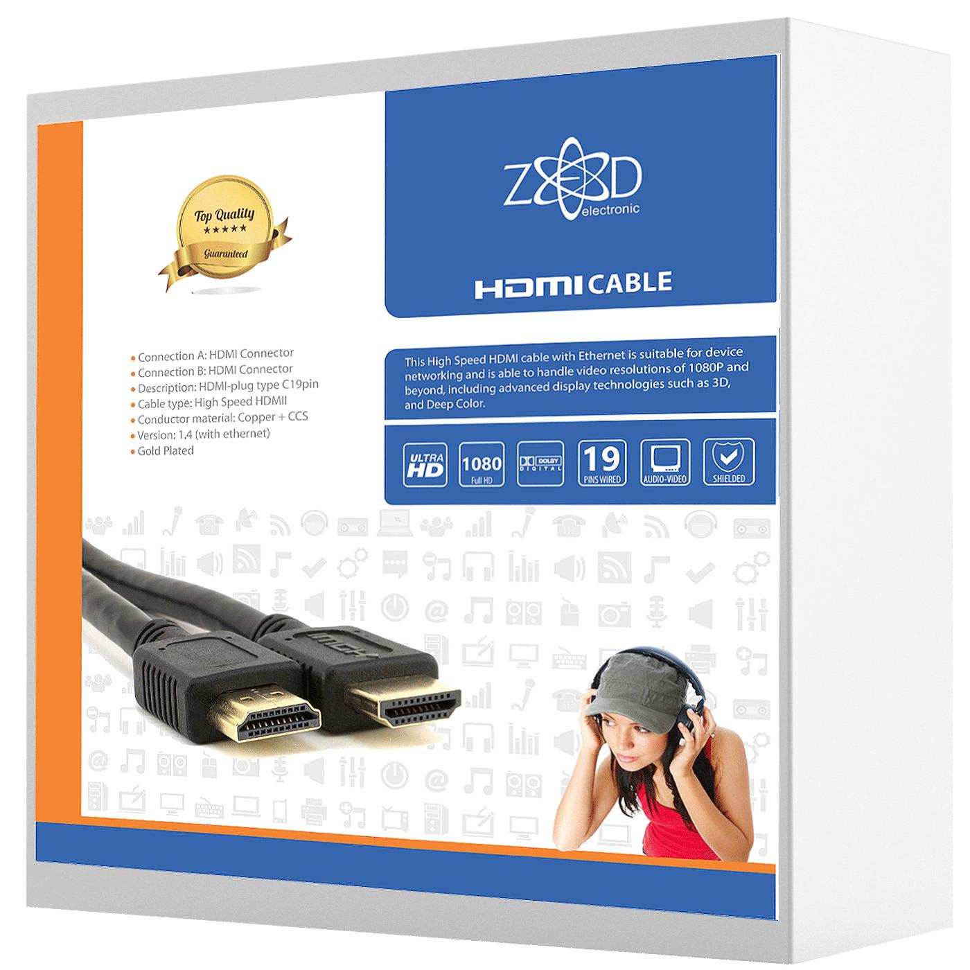 HDMI kabl,  25 met, ver. 1.4