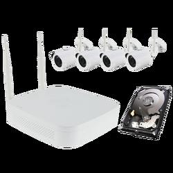 IP Bežični set za video nadzor,1xNVR,4xCAM 1MP,HDD 1TB