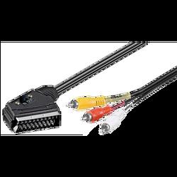 Scart - RCA (činč) kabl sa prekidačem, dužina 1.5 met