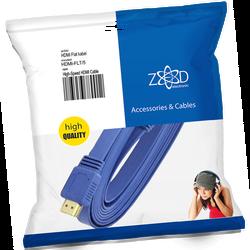 HDMI kabl, plosnati, 5.0 met, ver. 2.0, 3D, Ethernet