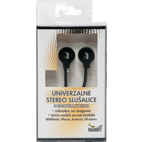 Slušalice sa mikrofonom, stereo, 3,5mm, crne