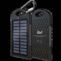 Punjač prijenosni za mobitele + svjetiljka, solarni, 5000mAh