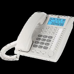 Telefon analogni, stolni, LCD zaslon, bijeli