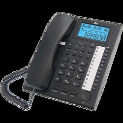 Telefon analogni, stolni, LCD zaslon, crni