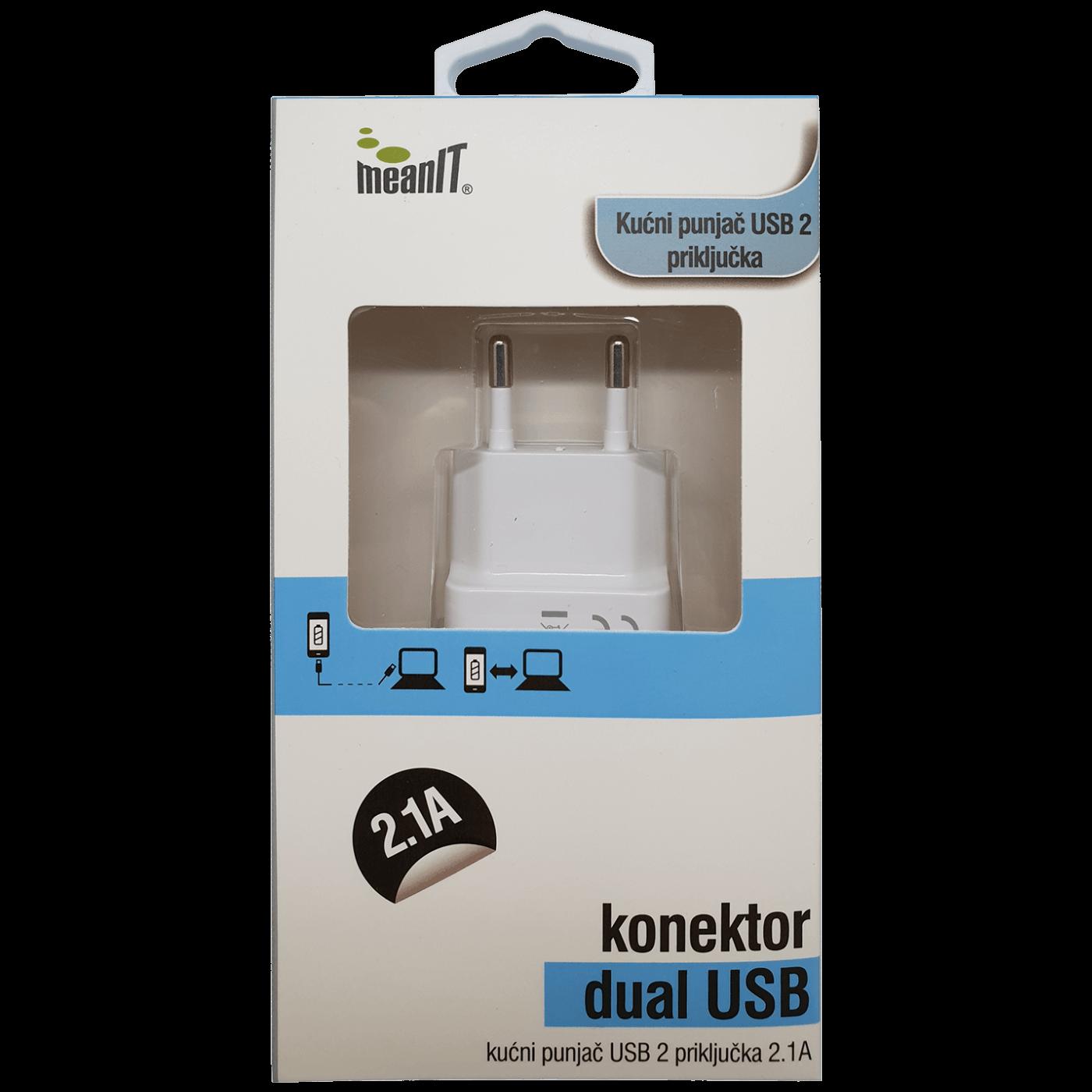 MeanIT - PUNJAČ ZA TABLET I SMARTPHONE USB 2