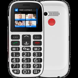 Telefon mobilni, 1.8 inch zaslon, Dual SIM, FM radio, BT, bijeli