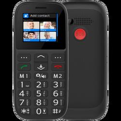 Telefon mobilni, 1.8 inch zaslon, Dual SIM, FM radio, BT, crni