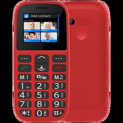 Telefon mobilni, 1.8 inch zaslon, Dual SIM, FM radio, BT, crveni