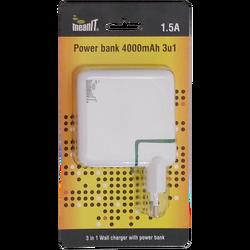 Punjač prijenosni za mobitele + LED svjetiljka, 4000mAh