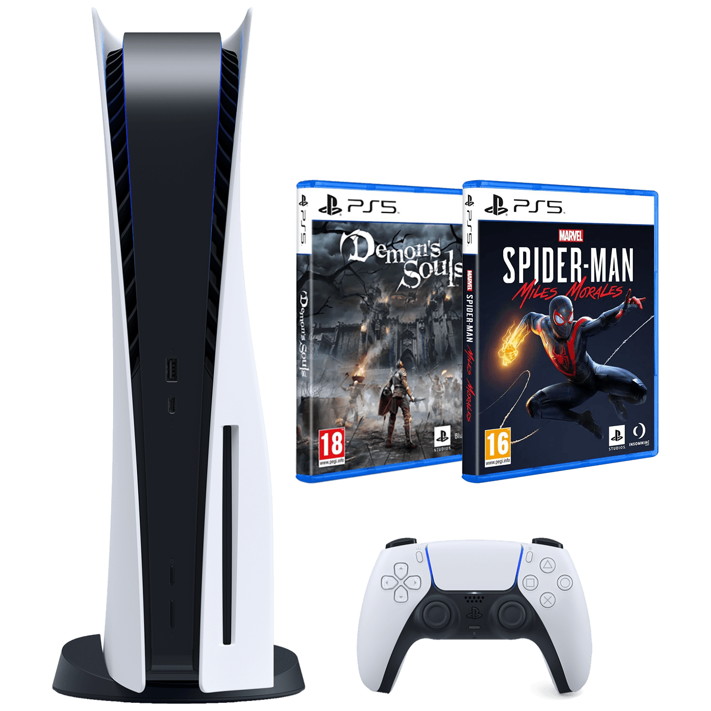 Igraća konzola PlayStation 5 + Demon Souls + Spiderman