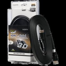 HDMI kabl, plosnati, 4.0 met, ver. 1.4, 3D, Ethernet