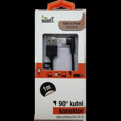 USB kabl za Iphone 5 / 6, dužina 1.0 metar, crni