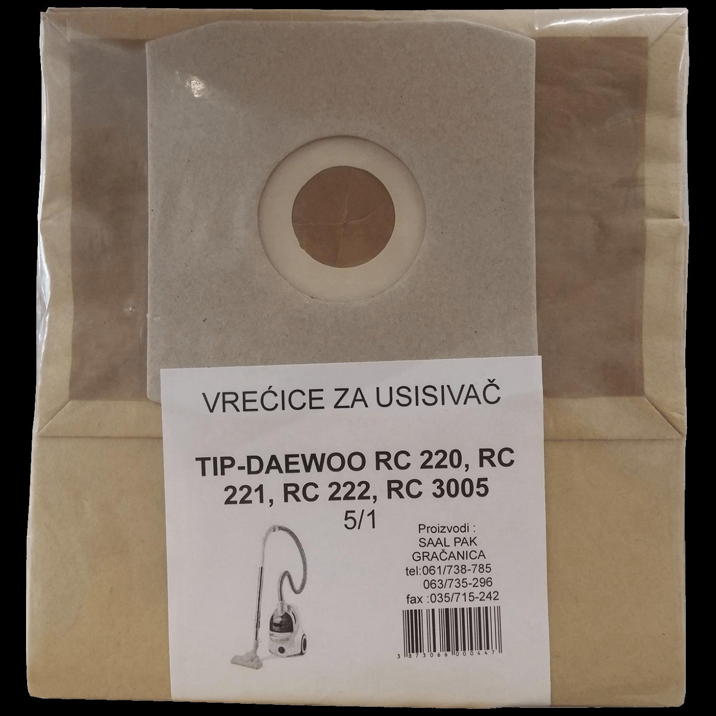 Vrećice za usisavač 5/1, Daewoo RC 3005