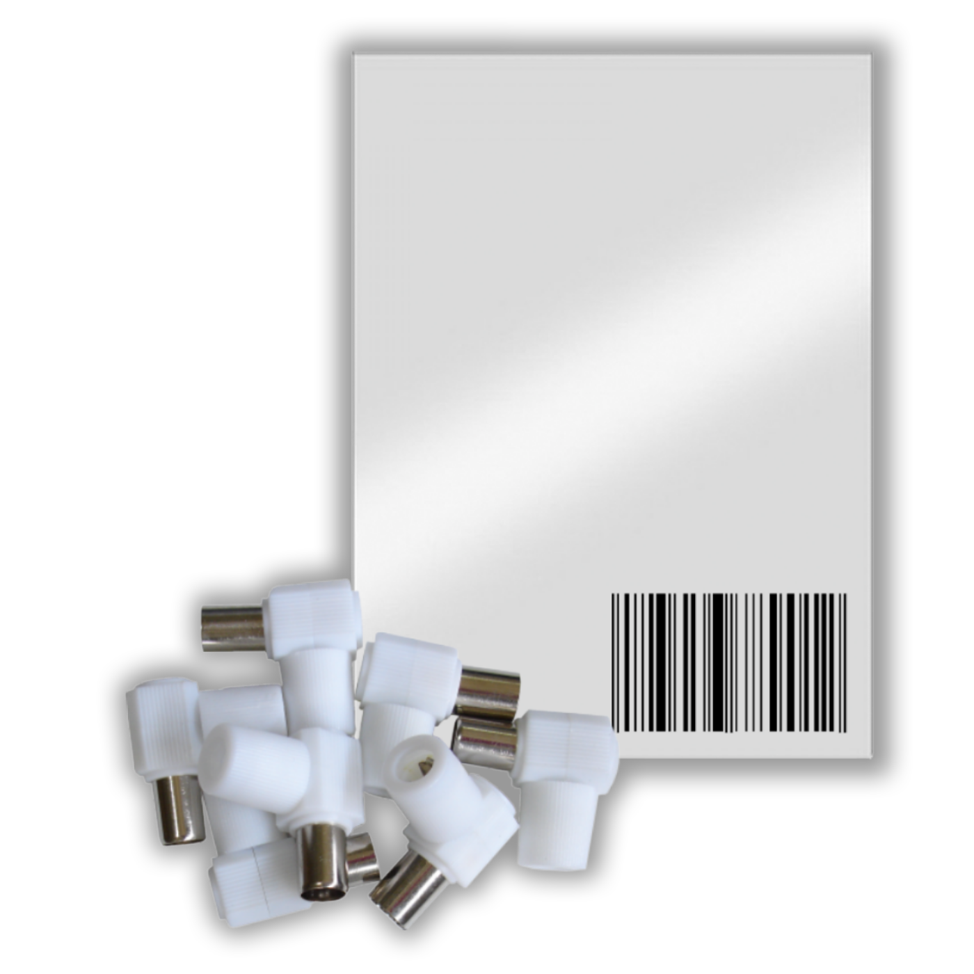 RF utičnica plastična, pak. 25 kom.