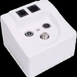 Utičnica TV/SAT/FM/1xLAN (Ethernet)/1xTel.