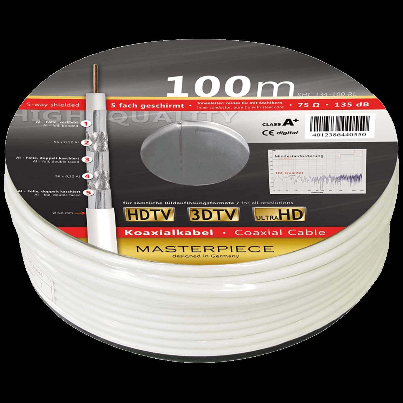 Koaksijalni kabl RG-6, CCS, 135dB, 100 met., A+