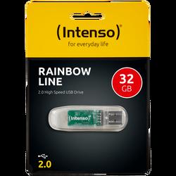 USB Flash drive 32GB Hi-Speed USB 2.0,Rainbow Line,TRANSP.