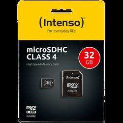 (Intenso) - SDHCmicro+ad-32GB/Class4