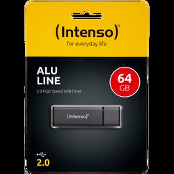 USB Flash drive 64GB Hi-Speed USB 2.0, ALU Line