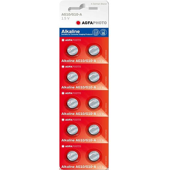 Baterija alkalna LR54/AG10, 1.5V, dugmasta, blister 10 kom