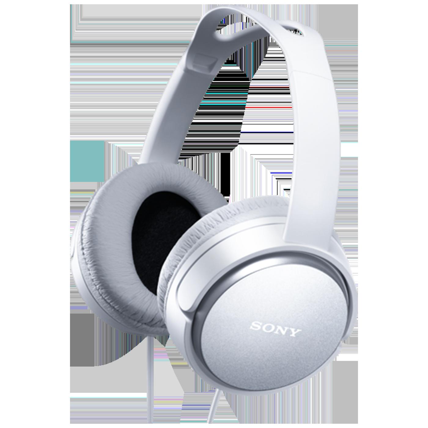 Slušalice, stereo, naglavne, bijele