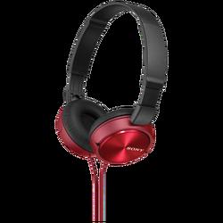 Slušalice, stereo, sklopive, crvena