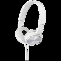Slušalice, stereo, sklopive, bijele