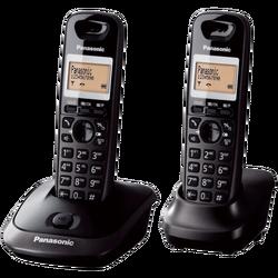 Telefon, bežični, sa dvije slušalice, 1,4 inchLCD, crna