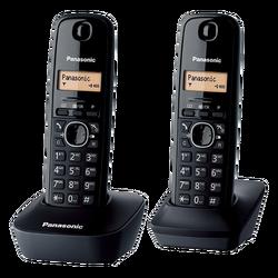 Telefon bežični, DUO DECT, LED display, crna boja