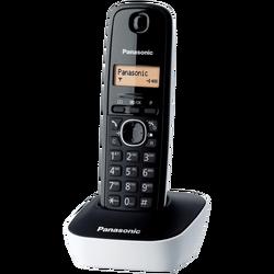 Telefon bežični, LED display, bijelo/crni