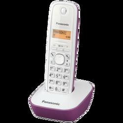 Telefon bežični, LED display, bijelo/ljubičasti