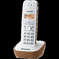 Telefon bežični, LED display, bež boja