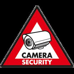 Set 5 naljepnica  inchCamera Security inch
