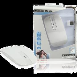 Optički Wireless miš, 1600dpi 2.4GHz, boja bijela