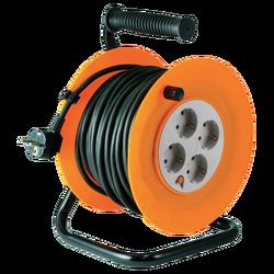 Motalica za kabl, 25 met., H05VV-F, 3 x 1.0 mm², IP20