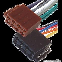 Utičnica ISO, set, napajanje + zvučnici, 15cm, označene žice