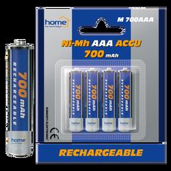 Baterija punjiva AAA, 700mAh, blister 4 kom