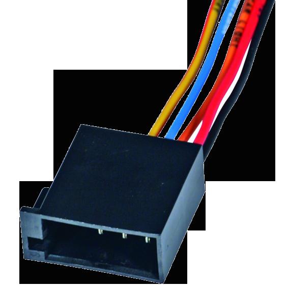 Utikač ISO, napajanje, 15cm označene žice, muški