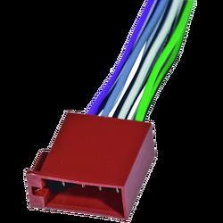 Utikač ISO, zvučnički, 15cm označene žice, muški
