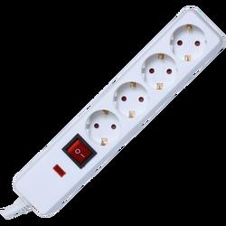 Produžni kabl sa zaštitom, 4 utičnica, 1.5mm², 1.5 met