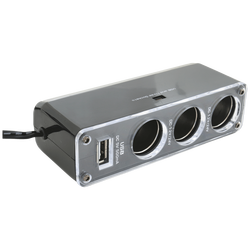 Auto razdjelnik sa USB punjačem, 3 x 12-24 V, USB 5V