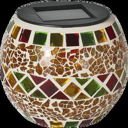 Solarna vrtna dekorativna svjetiljka, svjećnjak,žuti, 300mAh