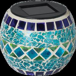 Solarna vrtna dekorativna svjetiljka, svjećnjak,plavi,300mAh