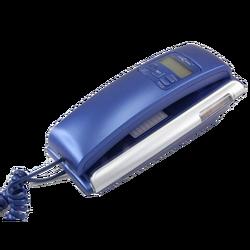 Telefon analogni, stolni, žičani, CID, LCD, plava boja