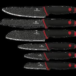 Noževi, set, 6/1, Black Stone Touch Line