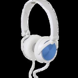 Slušalice, stereo, 3,5mm, sklopive, bijelo/plave