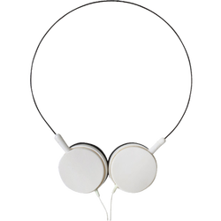 Slušalice, stereo,  3,5mm, okretljivi zvučnici, bijele
