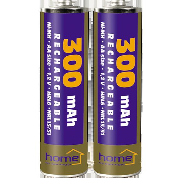 Baterija punjiva AA, 300mAh, blister 2 kom